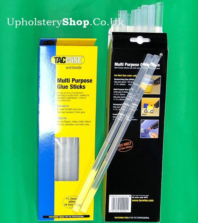 Tacwsie 0470 Tacwise Clear Hot Melt Glue Sticks for Glue Gun Pack of 16