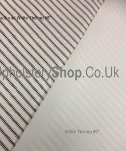 "Black and White Ticking 56"" wide"