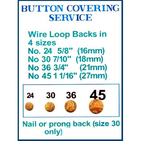 buttons - wire loop, nail. prongs backs